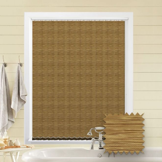 Made to Measure Morocco Harvest Brown Vertical Blind - Just Blinds